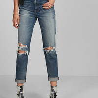 High Waisted Distressed Original Girlfriend Jeans