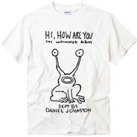 Hi How are you Daniel Johnston Tee design art graph t-shirt