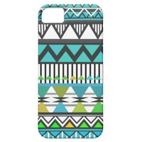 Turquoise Tribal 2 Pattern iPhone 5/4S Case-Mate C Iphone 5 Case from Zazzle.com
