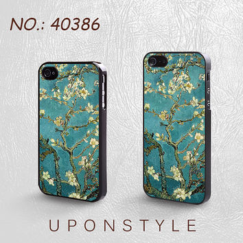 Phone Cases, iPhone 5 Case, iPhone 5s Case, iPhone 4 Case, iPhone 4s case, Plum flower, iPhone Case, Case for iphone, Case No-40386