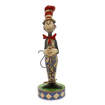 Jim Shore CAT IN THE HAT FIGURINE Polyresin Dr. Seuss 6002906