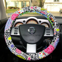 Colorful Abstract Steering Wheel Cover