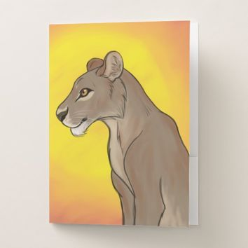 Queen Lioness Pocket Folder