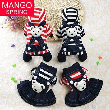 Pet Dog Clothes Puppy Hoodies Coat Jacket for Dog Small Big Bear Costume Spring Autumn Warm Pet Cat Dress Teddy Clothes
