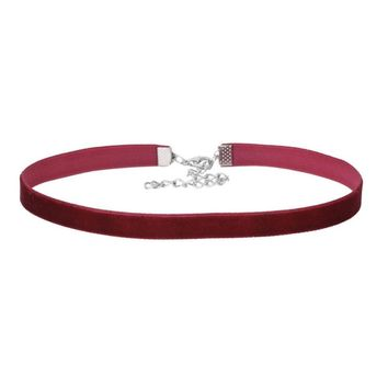 Wine Red Velvet Choker