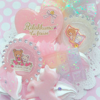 READY TO SHIP Kawaii Rilakkuma Decoden Rainbow iPhone 5/5s Phone Case