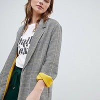 Bershka contrast blazer in multi check at asos.com