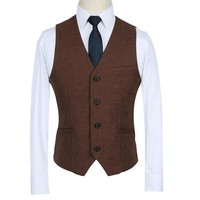 Blue and Red Formal Vest Men Multi-color Slim Fit Wedding Dress Vests for Men
