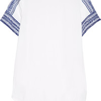 MICHAEL Michael Kors - Embroidered crepe top