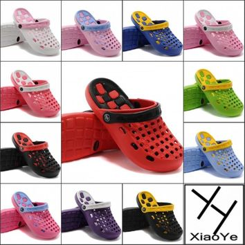 Summer Women Sandals Clogs Ladies EVA Mules Hole Shoes 12 Colors