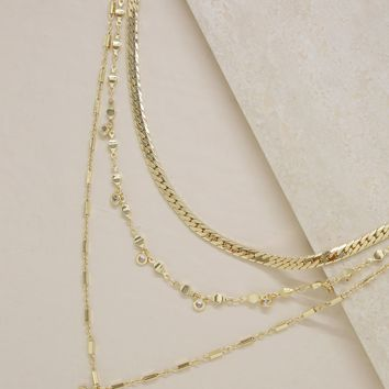 West Palm Layered Necklace in Gold