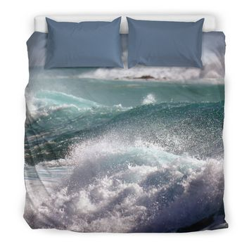 Rough Seas Ocean Water Bedding Set