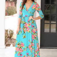 Fit for all occasions maxi dress - Mint