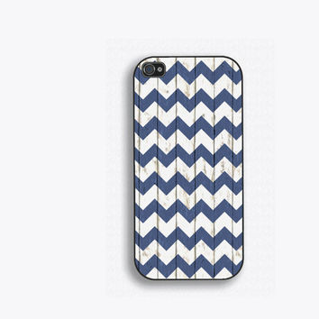 Reclaimed Look Blue Wood Chevron Phone Case, for iPhone 5, iPhone 5s, iPhone 5c, iPhone 4, iPhone 4s, Galaxy S3, S4 and S5. NM-151
