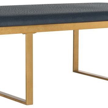 Millie Loft Bench / Coffee Table Navy / Gold