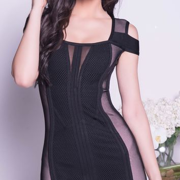 JLONE BANDAGE DRESS IN BLACK