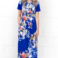Garden Party Floral Maxi Dress {Royal Mix}