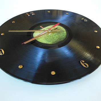 THE BEATLES Record Clock (Abbey Road)