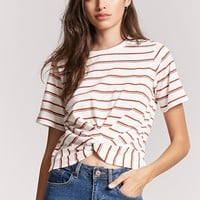 Stripe Twist-Front Tee
