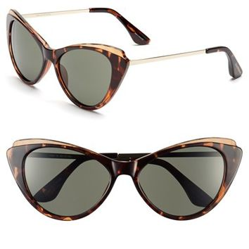 Women's Isaac Mizrahi New York 57mm Cat Eye Sunglasses