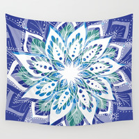 Mandala Bliss Wall Tapestry by shelbsdesigns