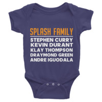 Splash Family Golden State Warriors Dubnation Infant short sleeve one-piece