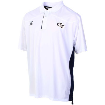 Georgia Tech Yellow Jackets Russell 2014 Sideline Coaches Polo – White