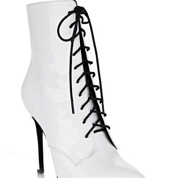 CHAPEL LACE-UP BOOT / WHITE