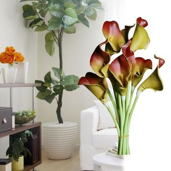 10pcs/set New Arrival Calla Lily Home decoration Flower Artificial Flower Bridal Bouquet Wedding Party Flower Craft