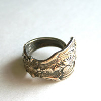 Vintage Silver Spoon Ring Reed and Barton