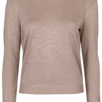 Fine Gauge Knit Sweater - Rose