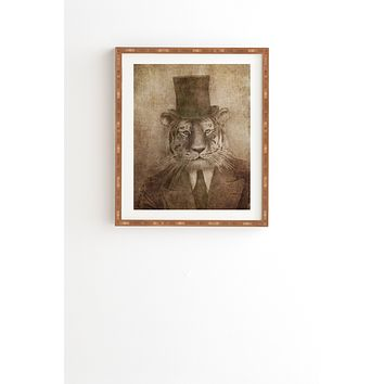 Terry Fan Sir Tiger Framed Wall Art