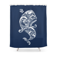 Society6 The White Whale Shower Curtains