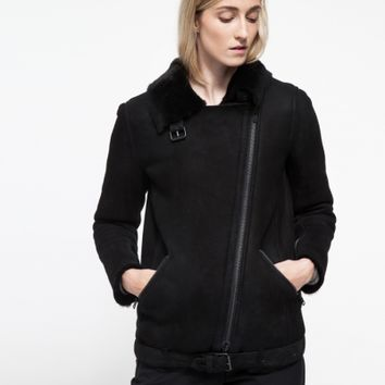 Just Female Chin Shearling Jacket