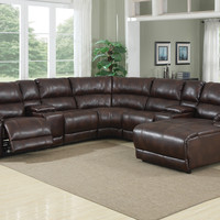 212D Caramel Brown Sectional with Chaise