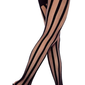 Sheer Pantyhose With Stripes