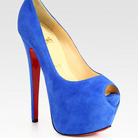 Christian Louboutin - Highness Suede Platform Pumps