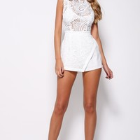 Enchanted Playsuit White