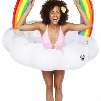 Giant Glitter Rainbow Cloud Pool Float