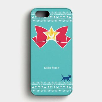Sailor Moon Luna Kawaii Cat iPhone SE Case
