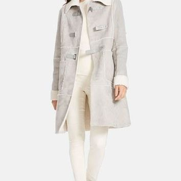 Women's Lauren Ralph Lauren Spread Collar Faux Shearling Coat,