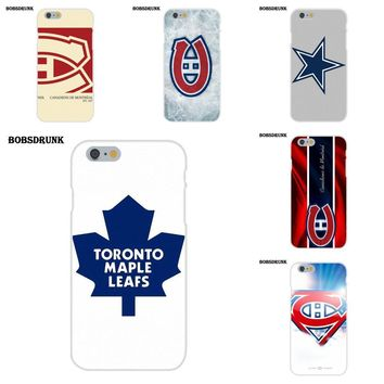 Soft Silicone TPU Transparent Phone Cover Case Coque Montreal Canadiens Logo Nhl For Apple iPhone 4 4S 5 5C SE 6 6S 7 8 Plus X