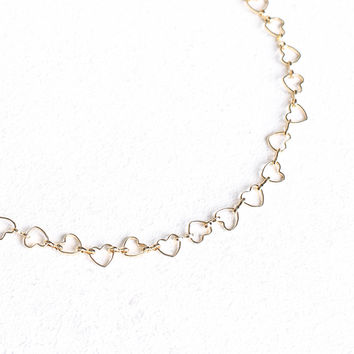 Love Heart Chain Choker