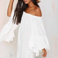On the Move Off-The-Shoulder Dress