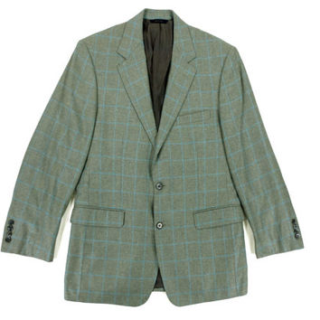 Vintage Brooks Brothers Jacket in Green Plaid - Sport Coat Blazer Suit Silk Ivy League Menswear - Men's Size 40 R Medium Med M