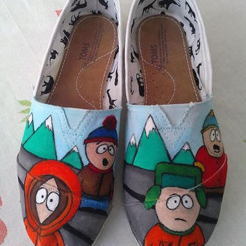 South Park Custom Hand Painted Toms Shoes