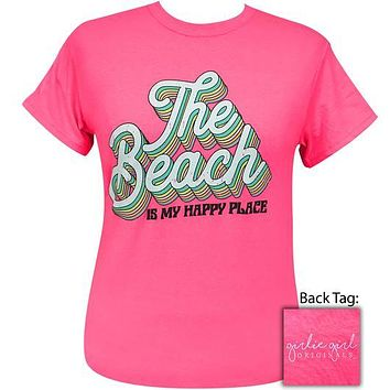 Girlie Girl Originals Preppy Beach Is My Happy Place T-Shirt