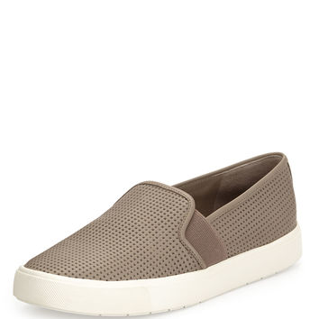 Perforated Slip-On Sneaker, Woodsmoke - Vince