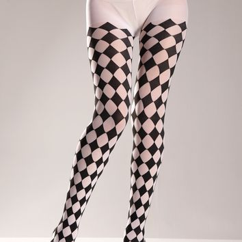Checkered Pantyhose