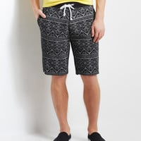Southwest Tribal Knit Jogger Shorts